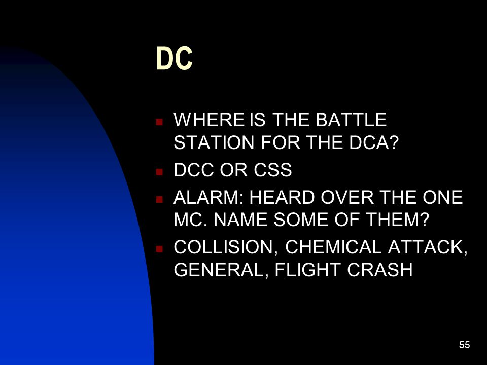 DC WHERE IS THE BATTLE STATION FOR THE DCA DCC OR CSS