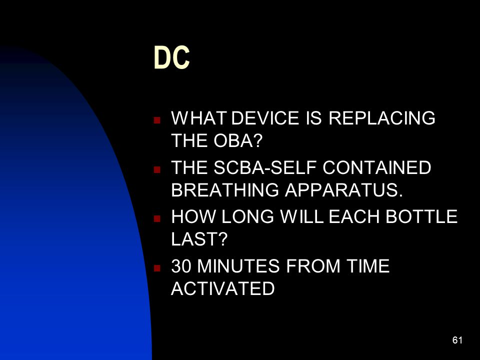 DC WHAT DEVICE IS REPLACING THE OBA