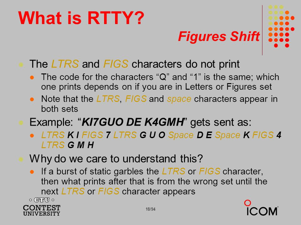 What is RTTY Figures Shift