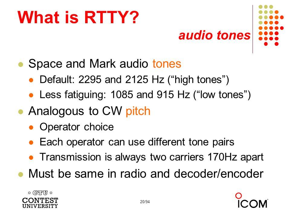 What is RTTY audio tones