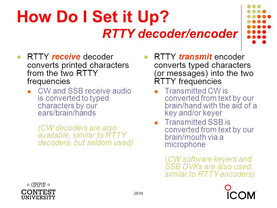 How Do I Set it Up RTTY decoder/encoder