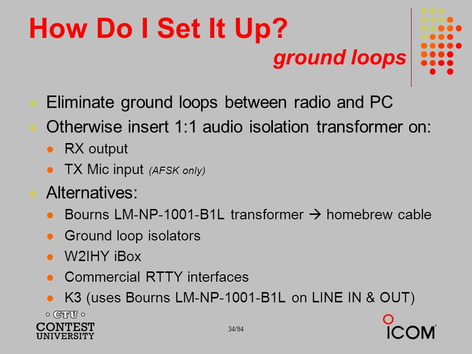 How Do I Set It Up ground loops