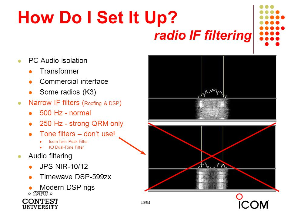 How Do I Set It Up radio IF filtering