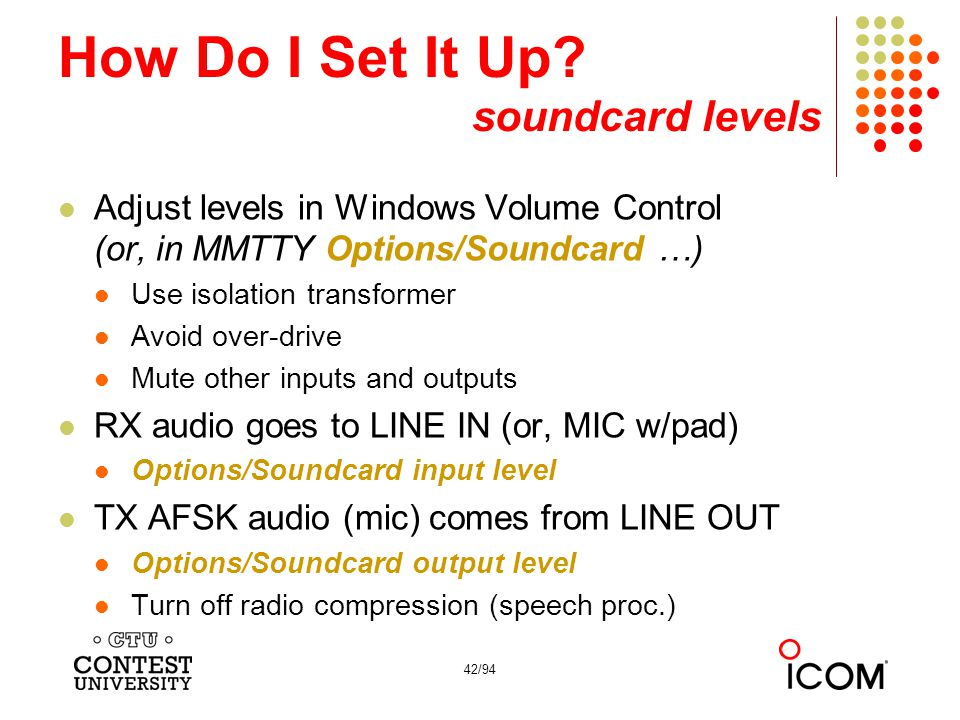 The Essentials Of Rtty Contesting Ed Muns W0yk Ppt