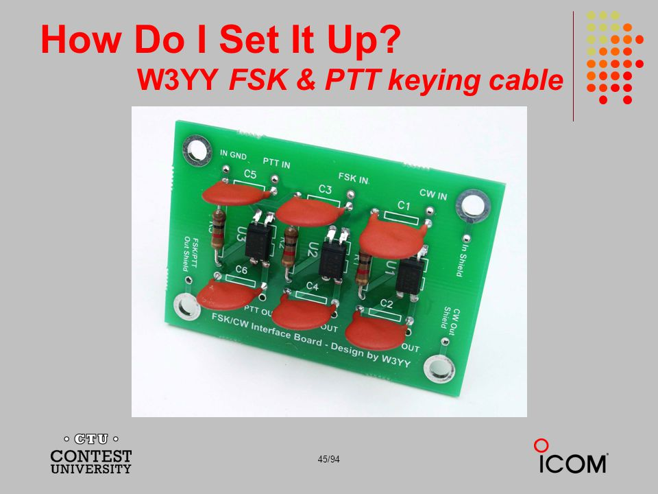 How Do I Set It Up W3YY FSK & PTT keying cable