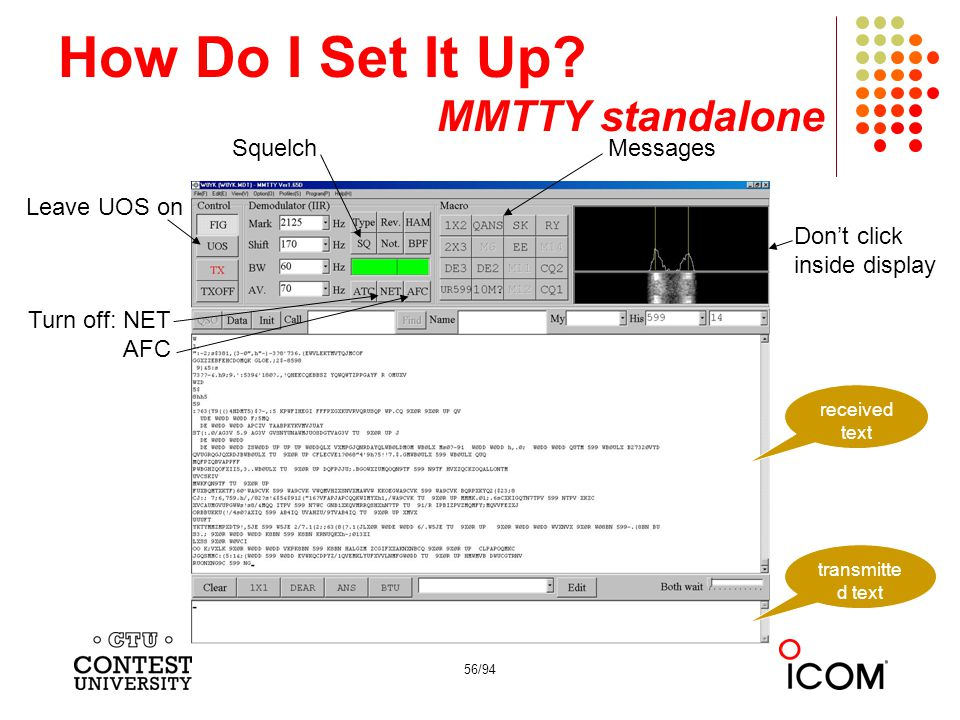 How Do I Set It Up MMTTY standalone