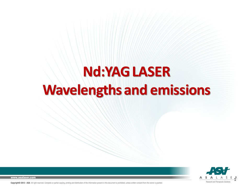 Wavelengths and emissions