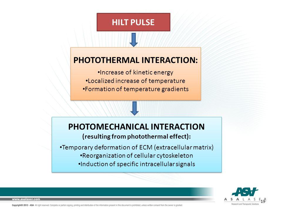 HILT PULSE PHOTOTHERMAL INTERACTION: PHOTOMECHANICAL INTERACTION