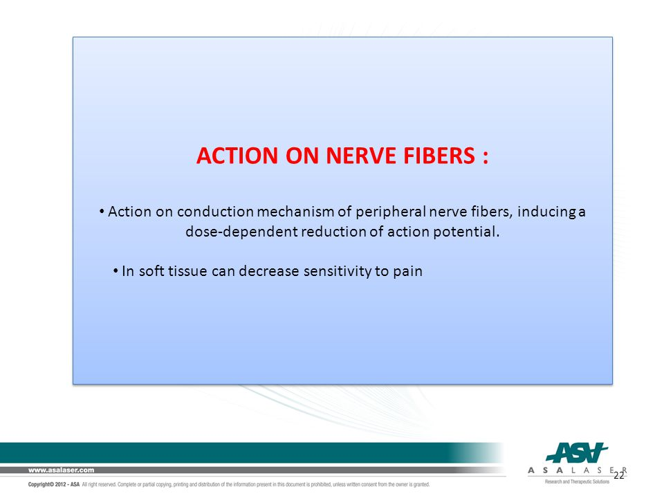 ACTION ON NERVE FIBERS :