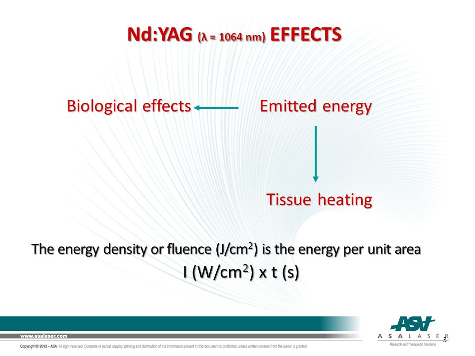 Biological effects Emitted energy