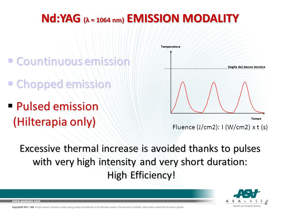 Nd:YAG (λ = 1064 nm) EMISSION MODALITY