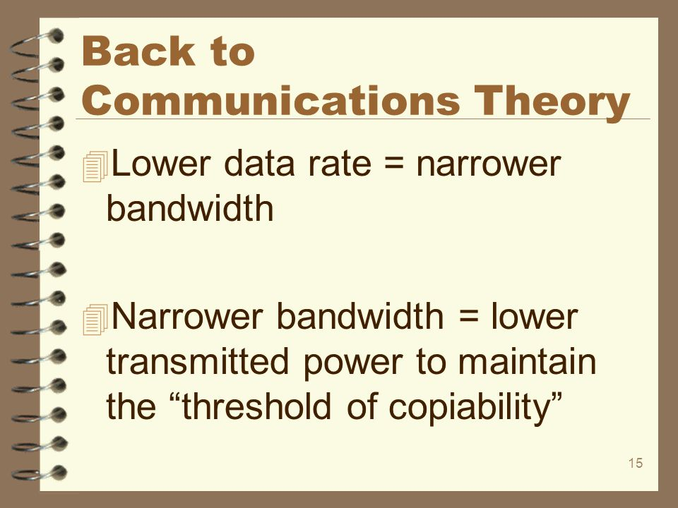 Back to Communications Theory
