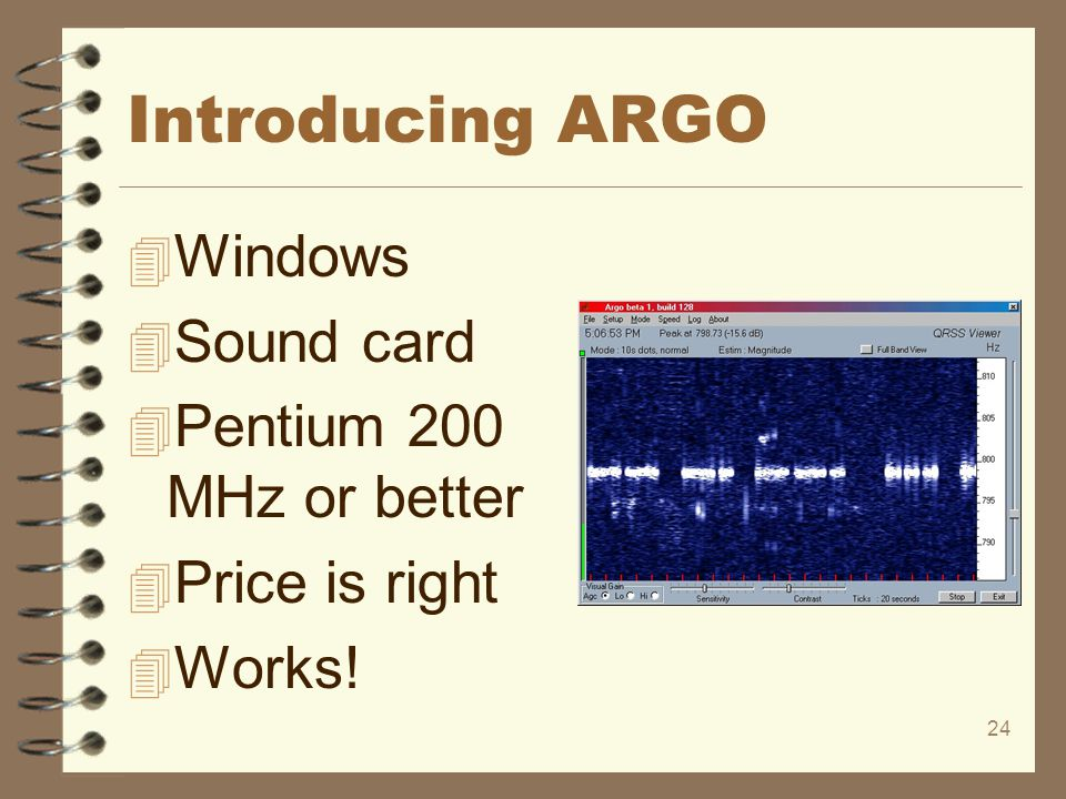 Introducing ARGO Windows Sound card Pentium 200 MHz or better