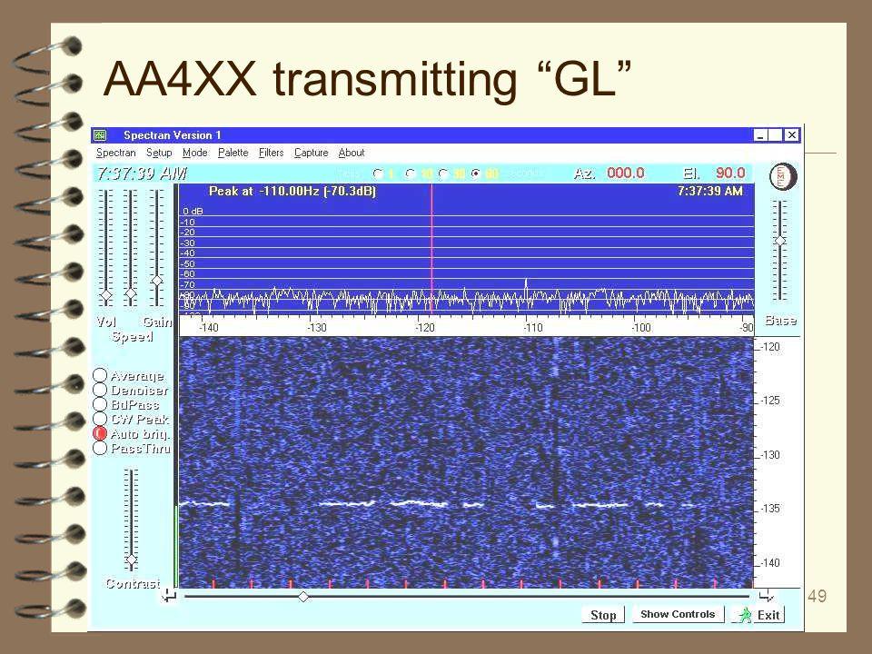 AA4XX transmitting GL
