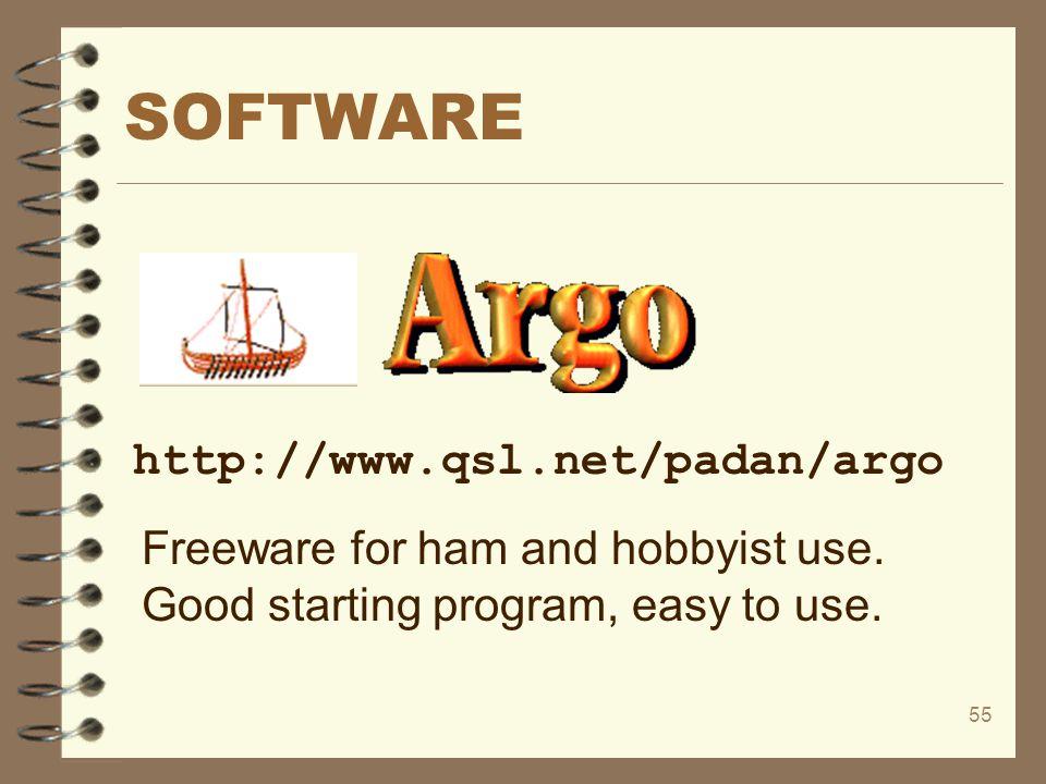 SOFTWARE http://www.qsl.net/padan/argo