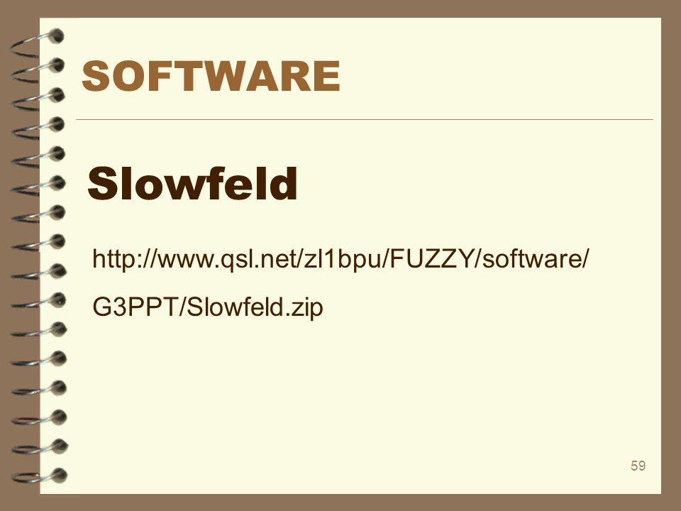 Slowfeld SOFTWARE http://www.qsl.net/zl1bpu/FUZZY/software/
