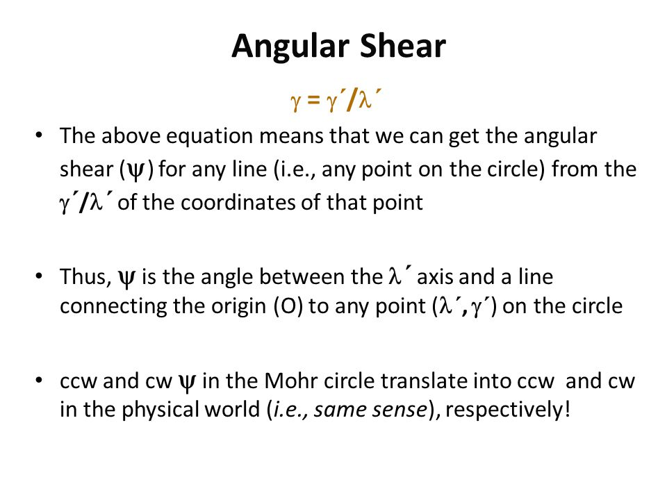 Angular Shear  = ´/´