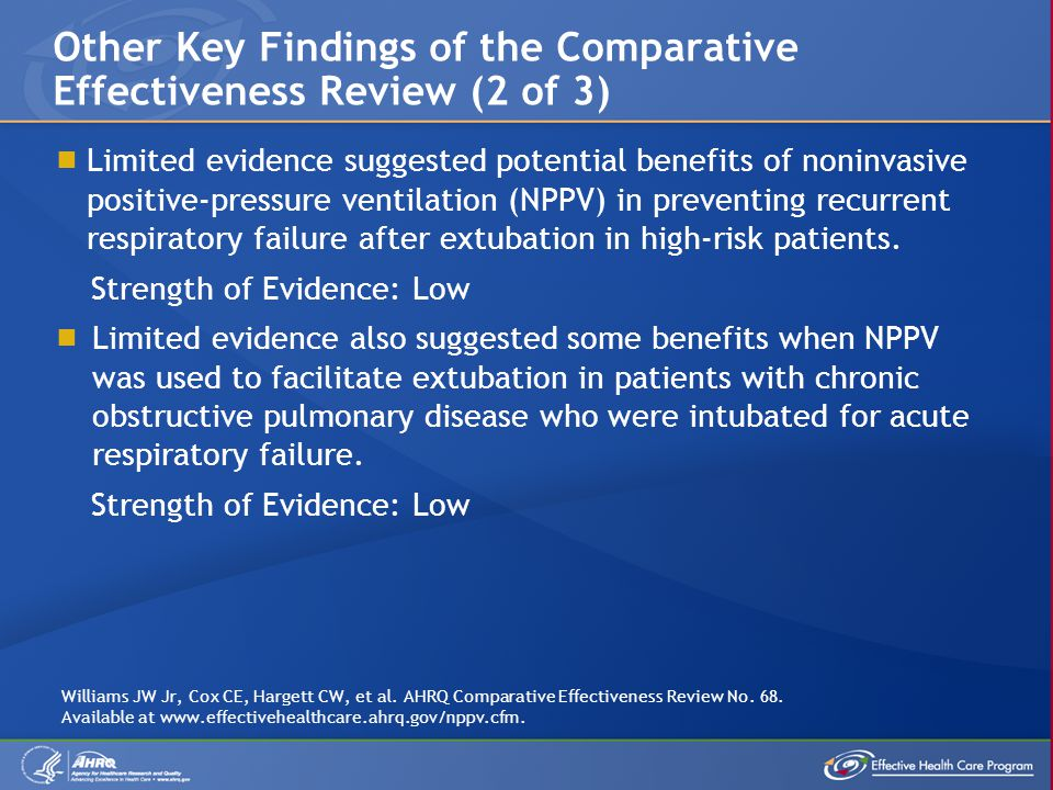 Other Key Findings of the Comparative Effectiveness Review (2 of 3)