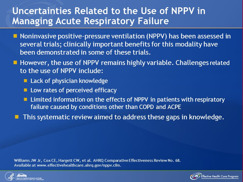 Uncertainties Related to the Use of NPPV in Managing Acute Respiratory Failure