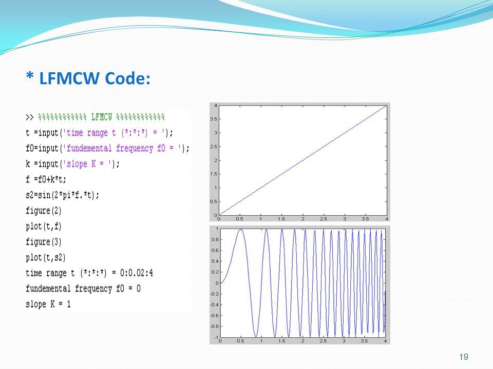 * LFMCW Code: