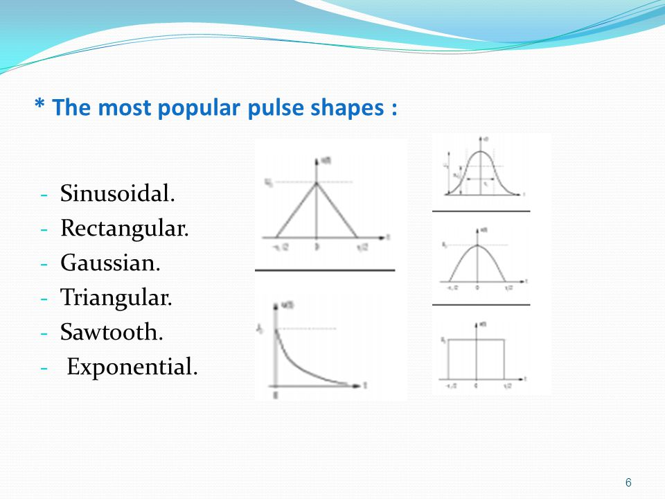 * The most popular pulse shapes :