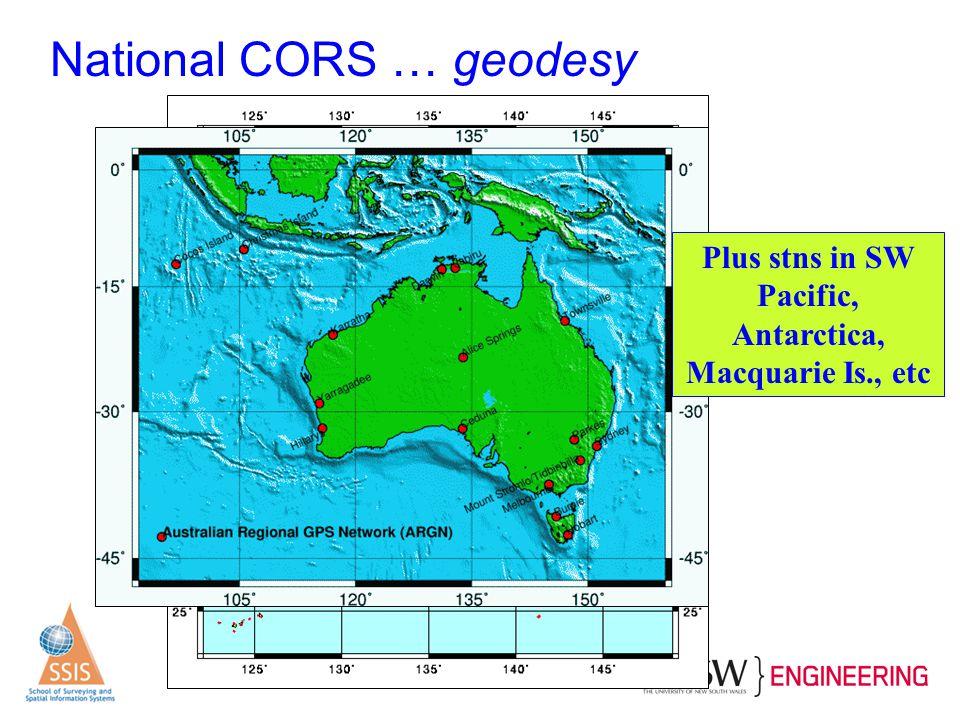 Plus stns in SW Pacific, Antarctica, Macquarie Is., etc