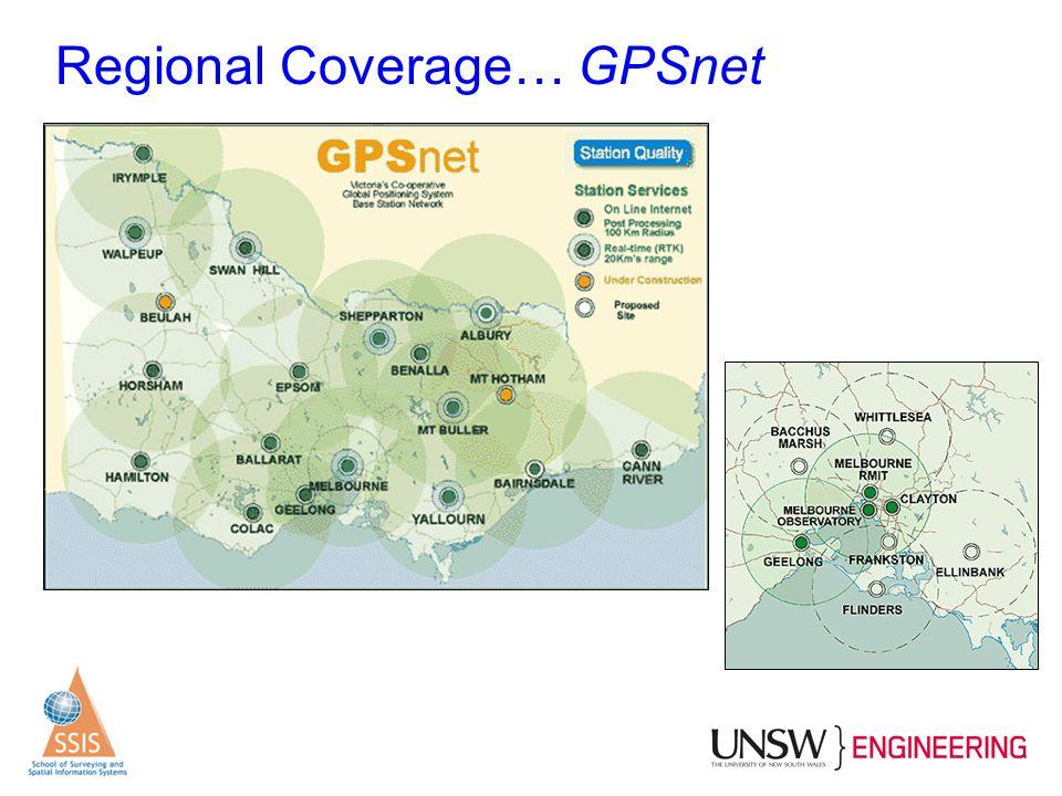 Regional Coverage… GPSnet