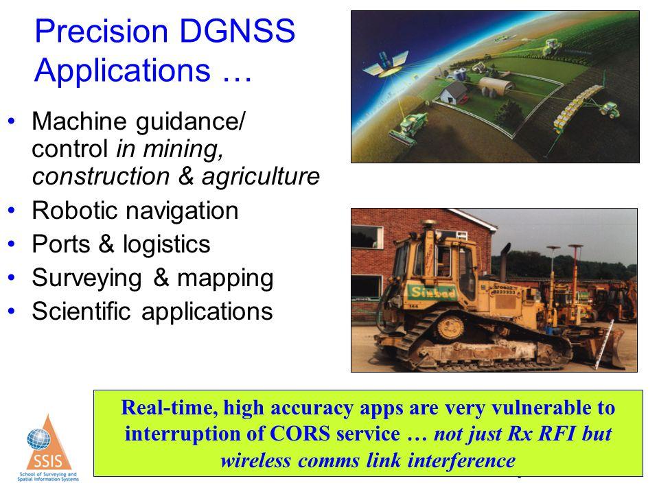 Precision DGNSS Applications …