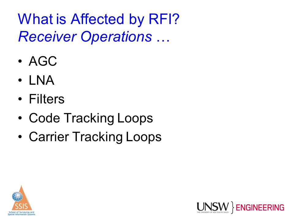 What is Affected by RFI Receiver Operations …