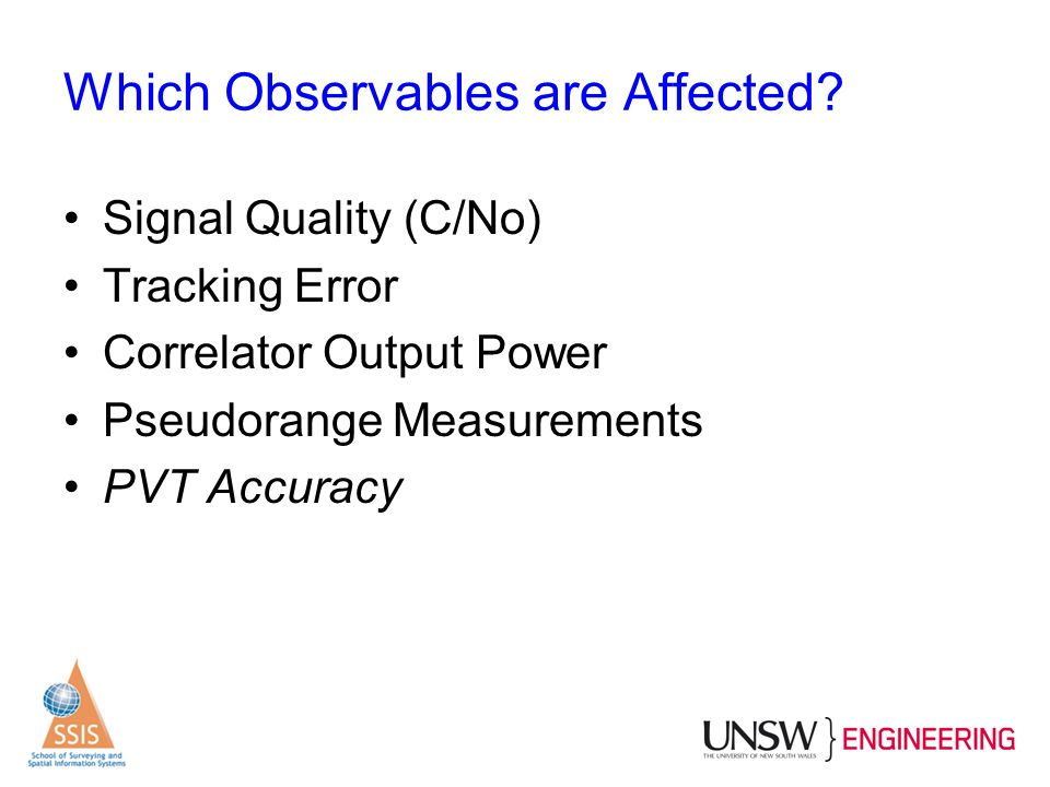 Which Observables are Affected
