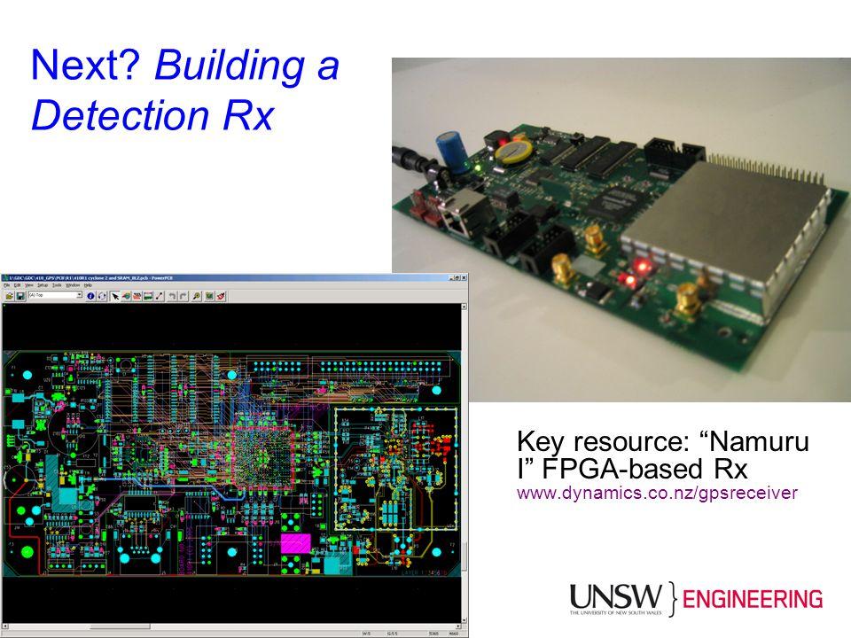 Next Building a Detection Rx