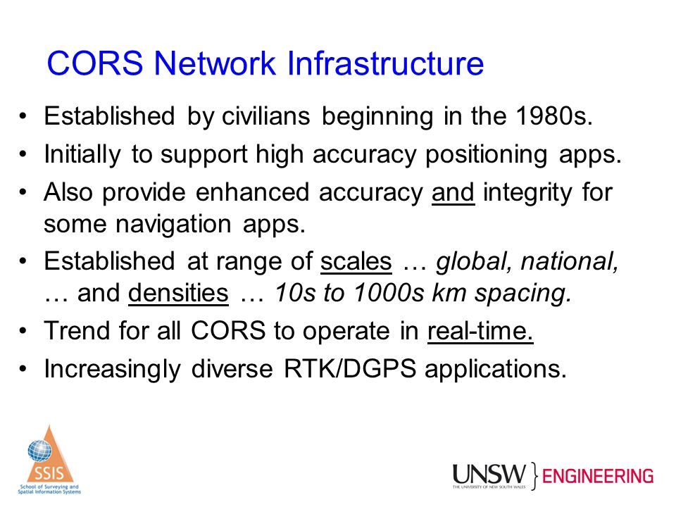 CORS Network Infrastructure