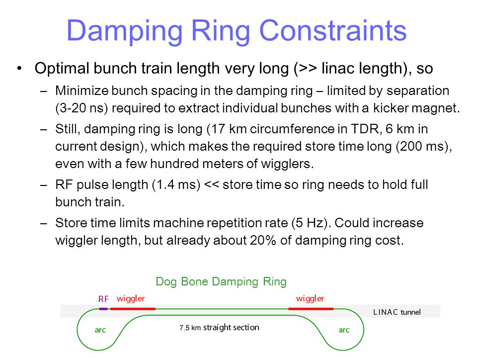 Damping Ring Constraints
