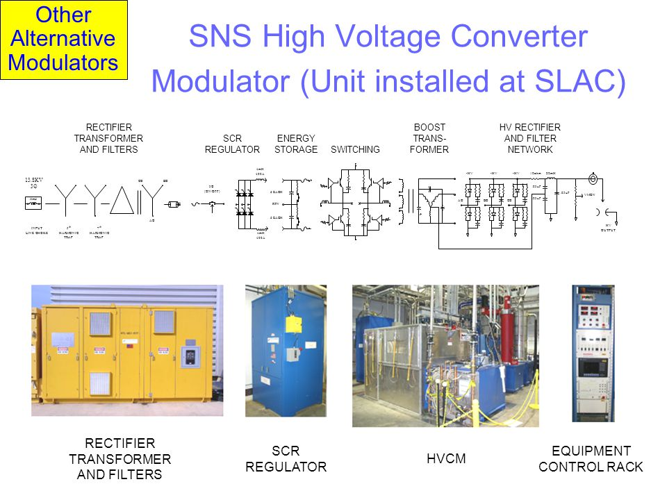 SNS High Voltage Converter Modulator (Unit installed at SLAC)
