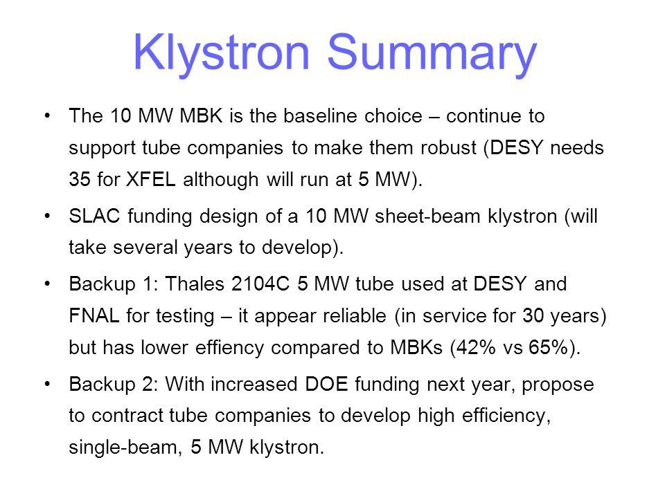 Klystron Summary