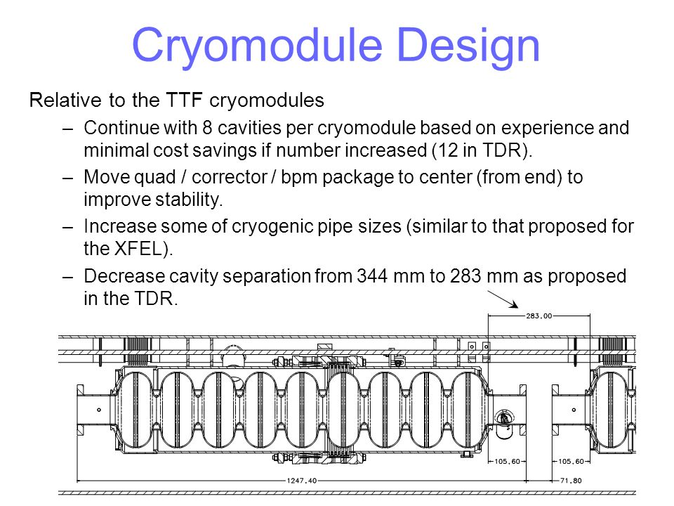 Cryomodule Design Relative to the TTF cryomodules