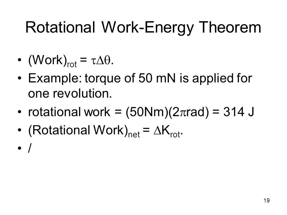 Rotational Work-Energy Theorem