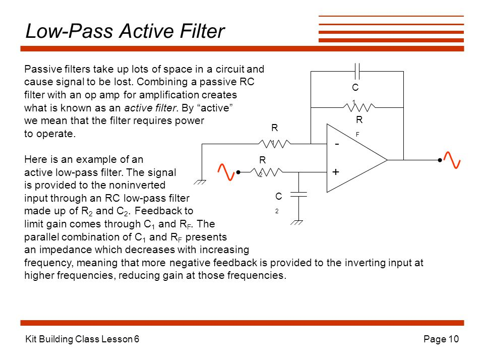 Low-Pass Active Filter