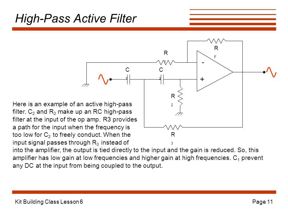 High-Pass Active Filter