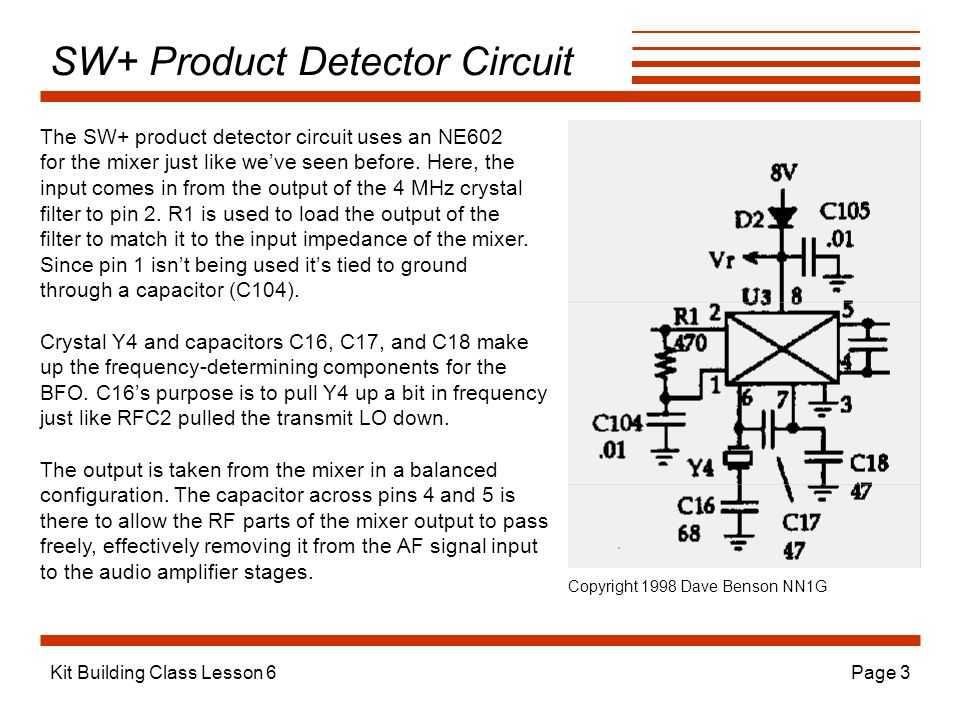 SW+ Product Detector Circuit