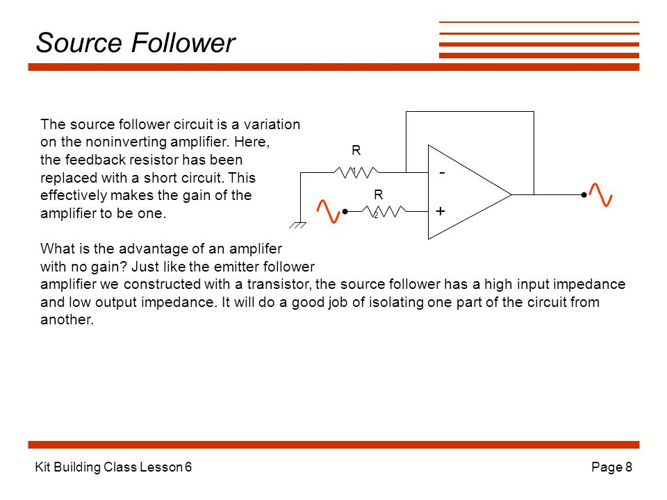 Source Follower - + The source follower circuit is a variation