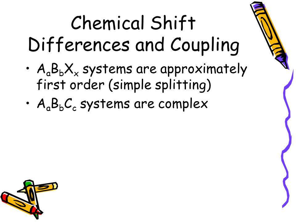 Chemical Shift Differences and Coupling