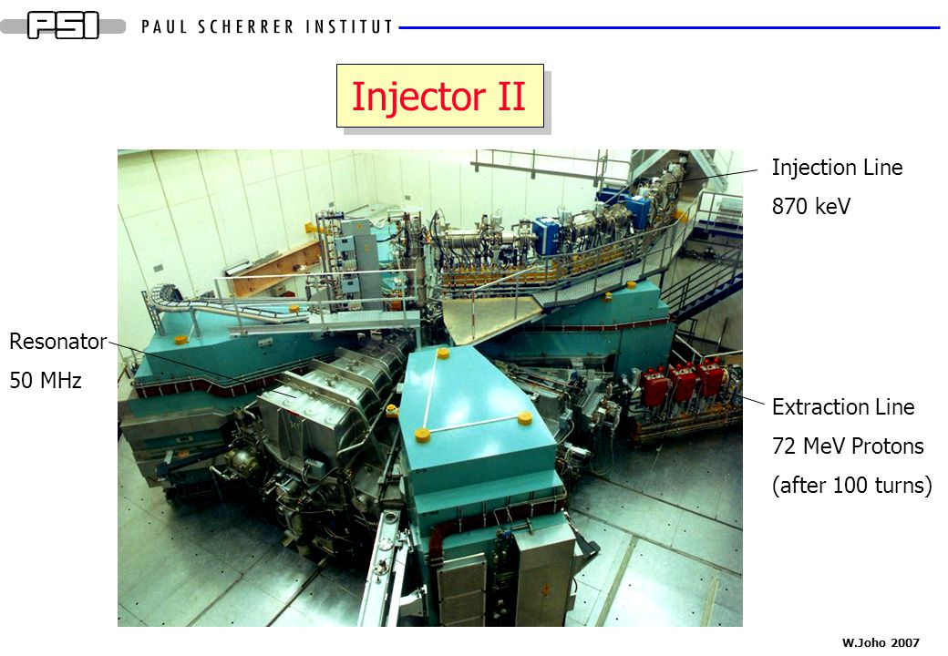 Injector II Injection Line 870 keV Resonator 50 MHz Extraction Line