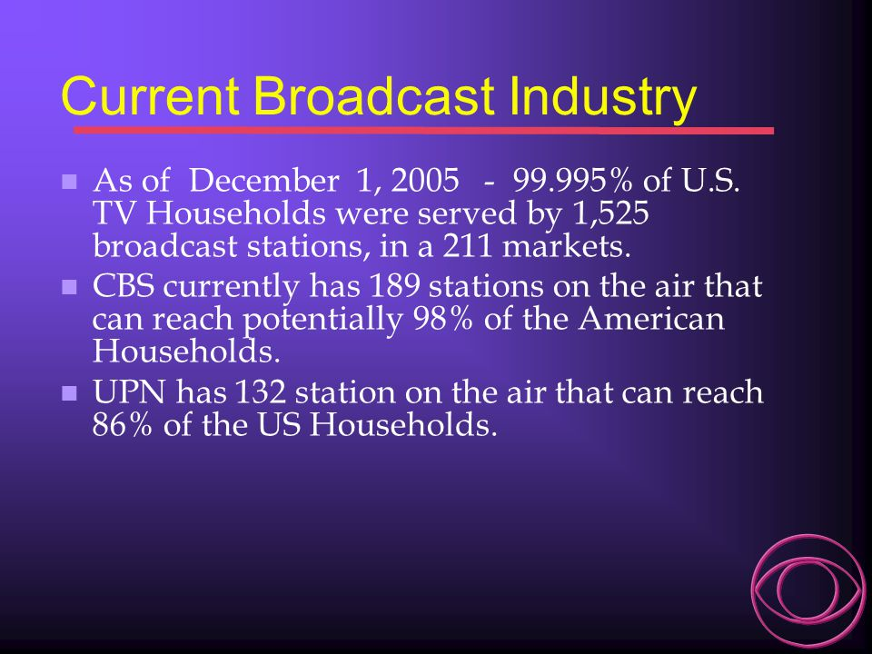 Current Broadcast Industry