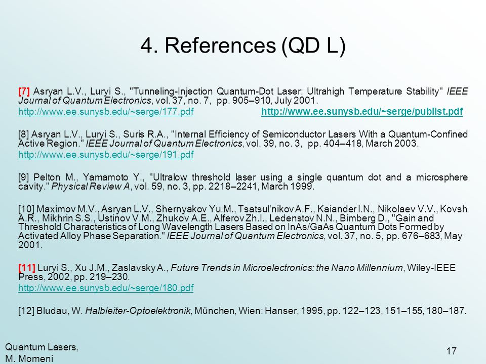 4. References (QD L)