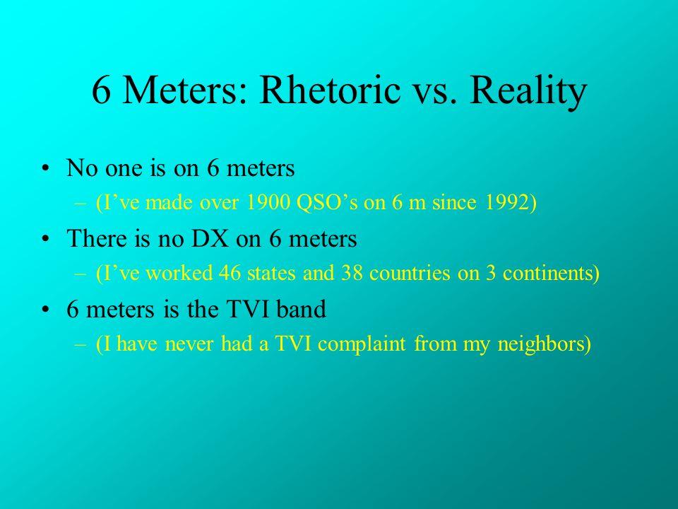 6 Meters: Rhetoric vs. Reality