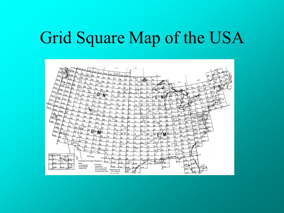 Grid Square Map of the USA