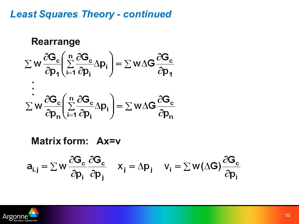 Least Squares Theory - continued