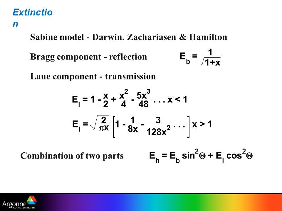 Sabine model - Darwin, Zachariasen & Hamilton