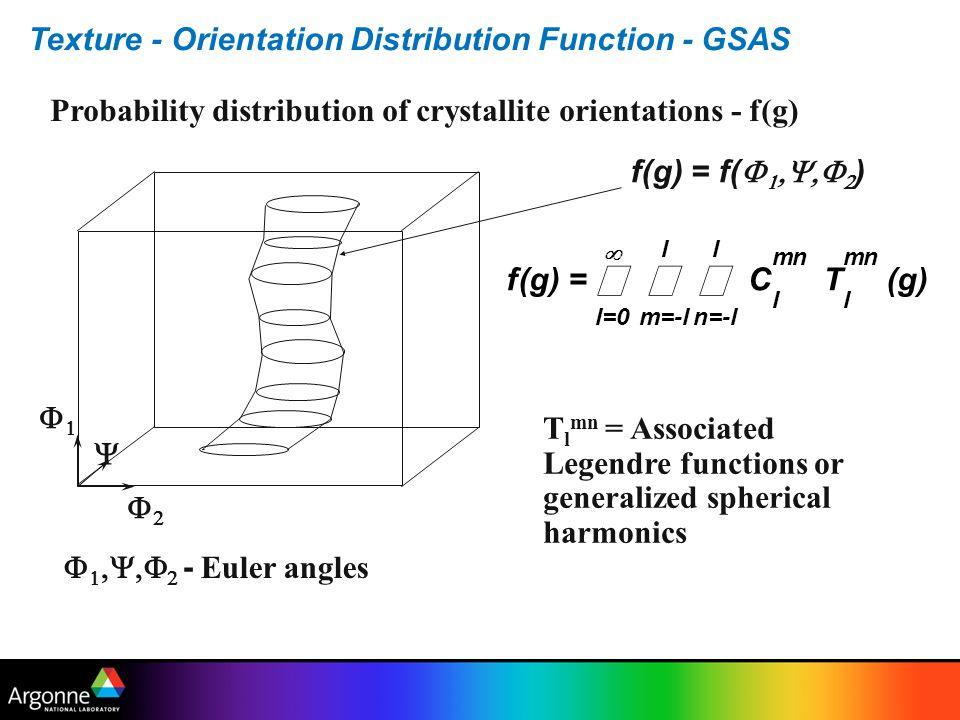 å Texture - Orientation Distribution Function - GSAS